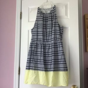 Old Navy striped dress with yellow bottom, Size XL